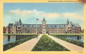 Senior High School New Rochelle NY Linen P126
