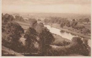 Scenic View of Totnes from Sharpham Road, Devon England 1900-10s