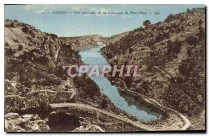 Old Postcard Cassis general view of the Creek of Port Miou