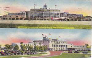 Terminal Washington National Airport Washington DC 1947