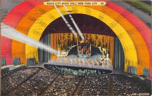 Radio City Music Hall, New York City, N.Y., Early Postcard, Used in 1939