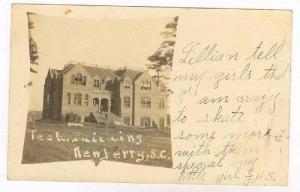 Real Photograph, Tech Building, Newberry, South Carolina, 1907 PU