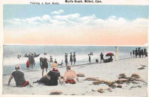 Milford Connecticut Myrtle Beach Bathers Antique Postcard K72652