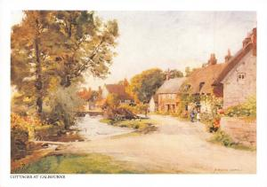 Isle of Wight Postcard Art, Cottages at Calbourne by A. Heaton Cooper P90