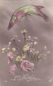 April Fools Day Fish With Flowers 1913