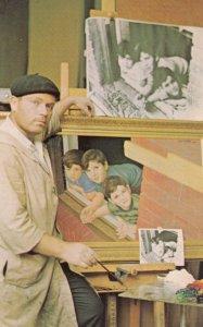 NEW YORK CITY , 1960s ; Artist Morris Katz in studio , 406-6th Avenue near 8th