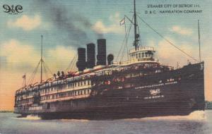 Steamer City of Detroit III , D.&C. Navigation Company , Detroit , Michigan...