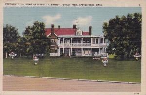 Massachusetts Springfield Pecousic Villa home Of Everett H Barney Forest Park...