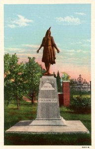 VA - Jamestown. Monument of Princess Pocahontas
