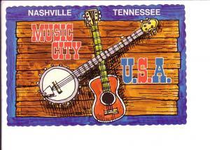 Music City USA, Nashville Tennessee, Guitar, Banjo
