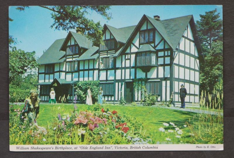 Replica Shakespeare's Birthplace Old England Inn Victoria BC - Unused