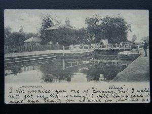 Berkshire CAVERSHAM LOCK c1902 UB Postcard