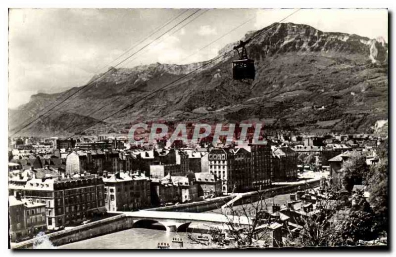 Old Postcard Grenoble and Moucherotte