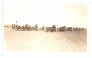 RPPC US Army, Four Mule Team Supply Wagons Real Photo Postcard