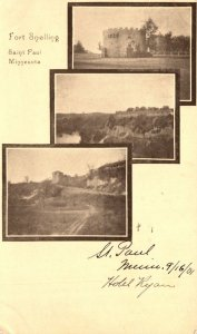 Minnesota St Paul Fort Snelling Multi View 1901 Private Mailing Card