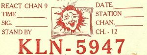 Vintage QSL Postcard KLN 5947 Reynoldsburg, Ohio Athol Gertie Cookie Writesel-T-
