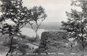 Bellevue Iowa Pulpit Rock State Park Real Photo Antique Postcard J68348
