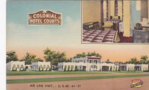 Louisiana New Orleans Colonial Hotel Court sk6527