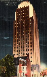 Pennsylvania Allentown Pennsylvania Power & Light Company Building At Night