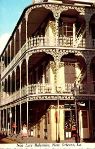 Louisiana New Orleans Iron Lace Balconies Royal and St Peter Streets