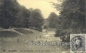 Bois de la Cambre Bruxelles, Belgium 1920 Stamp on front