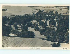 old rppc AERIAL VIEW OF AREA Amesbury - Wiltshire - England UK HM2017