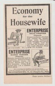 Enterprise Meat Chopper & Raisin Seeder Antique 1800s Print Ad