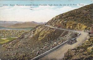 Scenic Highway Around Mount Franklin High Above The City Of El Paso Texas 1907