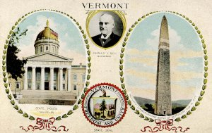 VT - Freedom and Unity - State Seal, Multi-View
