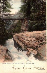Pennsylvania Milford Picnic Rock On The Sawkill 1906 Rotograph