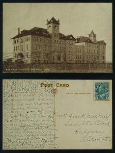 Brandon college Manitoba c 1913