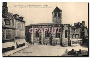 Postcard Montlucon Old Church of Our Lady Containing a triptych of Meme era o...