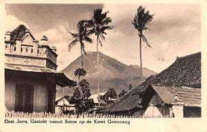 Java Indonesia, Republik Indonesia Gezicht vanuit Batoe op de Kawi Goenoeng J...