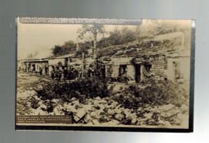 Mint WW 1 US Army Soldiers RPPC Postcard Bunkers Abandoned by German Army