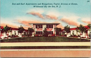Sun and Surf Apartments Wildwood By the Sea NJ New Jersey Unused Postcard F25