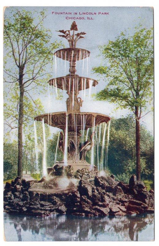 Chicago, ILL, Fountain In Lincoln Park