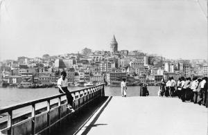 B108056 turkey Istanbul The Galata Tower, Golden Horn Tour real photo uk