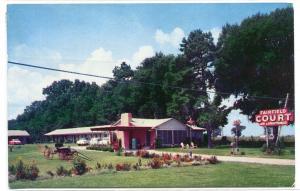 Fairfield Court Motel US Highway 27 Tallahassee Florida 1958 postcard