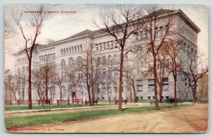 Chicago Illinois~Newberry Library~Washington Square~1909 VO Hammon Postcard