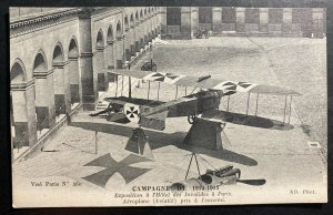 Mint France Real Picture Postcard WWI Exhibition Enemy Airplane