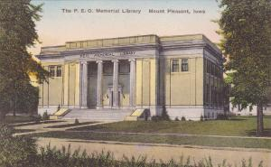 Exterior,  The P.E.O. Memorial Library,  Mount Pleasant,  Iowa,  00-10s