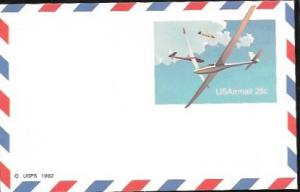 US Postcard Mint - Airmail. Gliders.  Issued in 1982