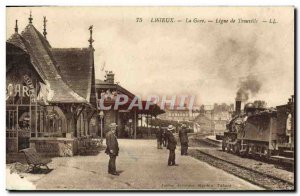Old Postcard Lisieux Train Line Train Touville TOP