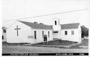 Mountain Home Arkansas Presbyterian Church Real Photo Antique Postcard K104104