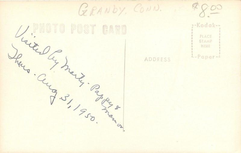 Granby Connecticut~Old Newgate Prison~1950 Real Photo Postcard~RPPC