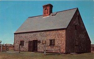 Natucket Massachusets 1960s Postcard Nantucket's Oldest House