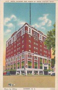 North Carolina Hickory Hotel Hickory And Tower Of Radio Station Whky 1945 Alb...