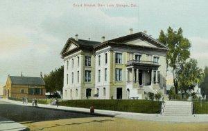 C.1910 Court House, San Luis Obispo, Cal. Vintage Postcard P105