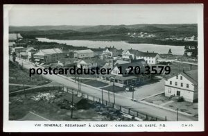 3579 - GASPE Quebec 1950s Birds Eye View. Real Photo Postcard