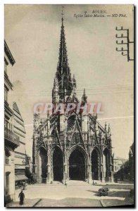 Old Postcard Rouen Eglise Saint Maclou